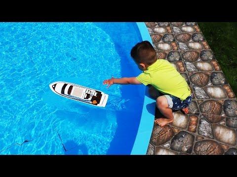 ★ КОРАБЛЬ Стрим Лайнер и Капитан Рома Распаковка Stream Liner Ship Toys for boys Unboxing