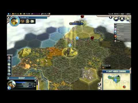 Lets Play Civ 5 French Culture Victory Part 1