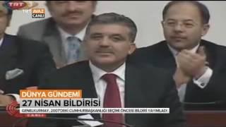 27 Nisan Bildirisi / E-Muhtıra - O Gün Neler Yaşandı? - Dünya Gündemi - TRT Avaz