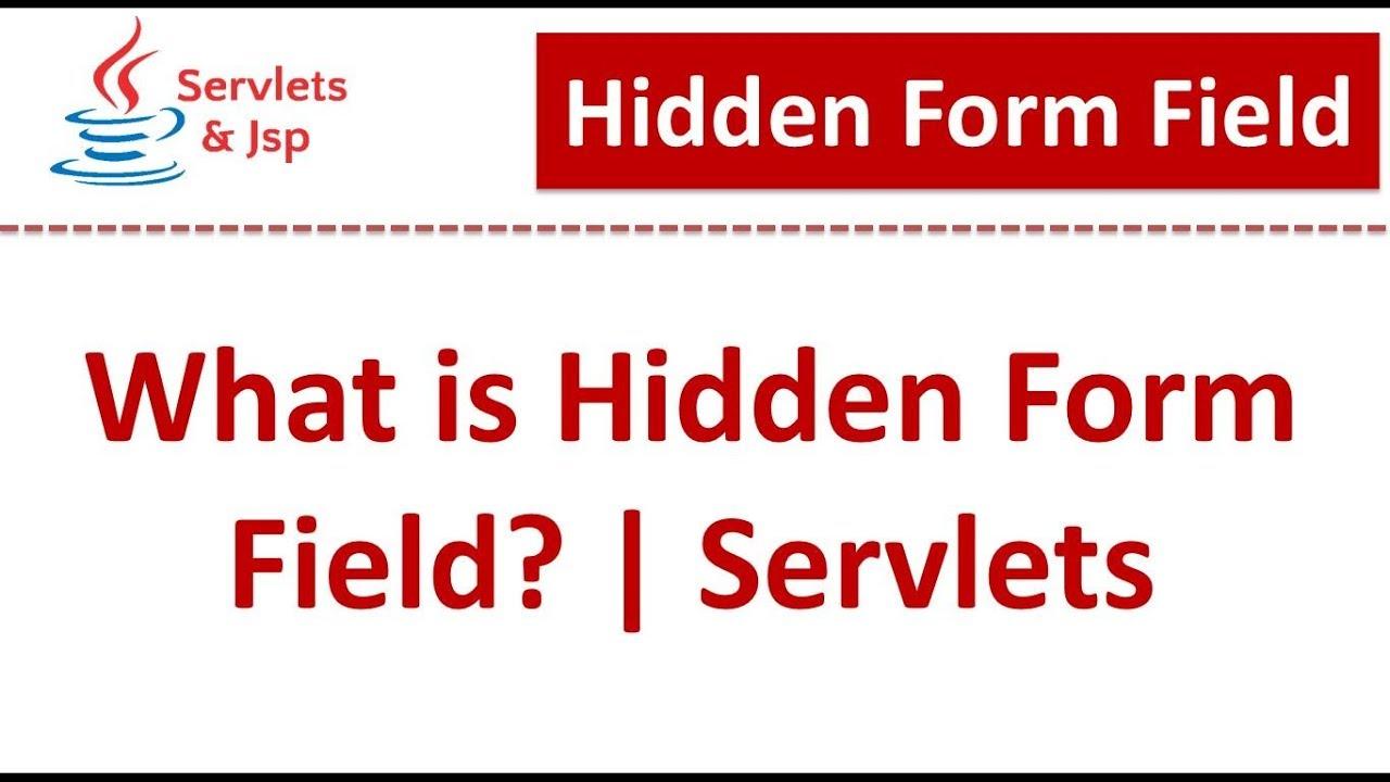 Servlets : Hidden Form Field - YouTube