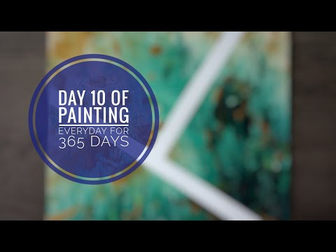 Finger Painting / Demo / Beginner / Abstract / Creative / Art Therapy / Day 10