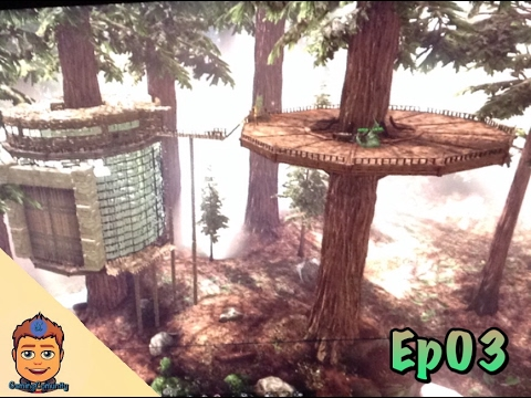 ma maison dans les arbres ark survival evolved ep03. Black Bedroom Furniture Sets. Home Design Ideas