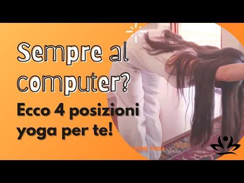 Sempre al computer? Ecco 4 posizioni yoga per te!