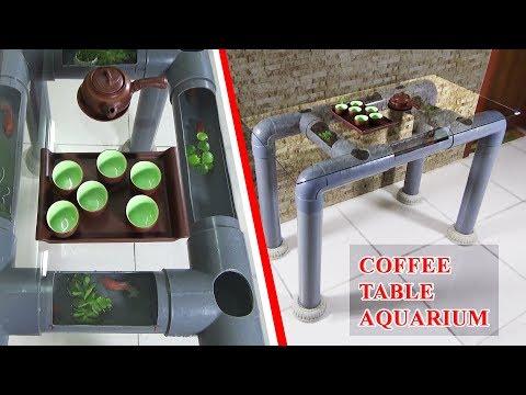 How to Make BEAUTIFUL COFFEE TABLE AQUARIUM using PVC Pipes
