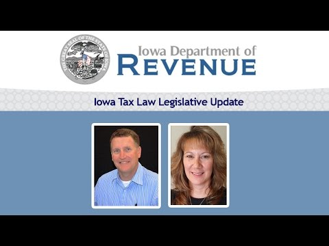 Iowa Tax Law Legislative Update 2015 | Terry O'Neill, Patty Fulton