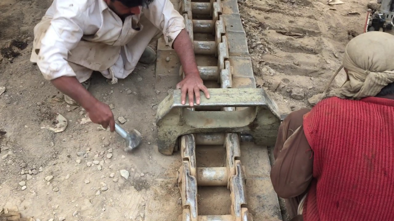 How to repair bulldozer tracks