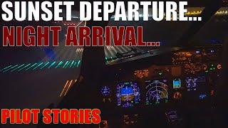 Pilot stories: Boeing 737 sunset departure, night time landing...