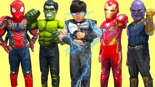 Marvel Avengers Infinity War Kids Costume Runway Show Thor Hulk Thanos Dress Up Fun TBTFUNTV