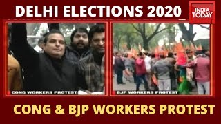 Delhi Elections 2020: Congress And BJP Workers Protest Over Ticket Distribution