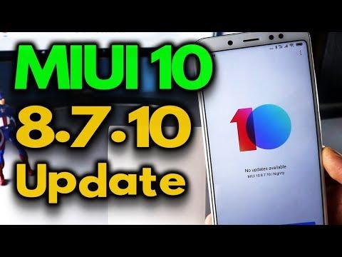 Miui 10 8.7.10 GLOBAL BETA update for Redmi Note 5 Pro