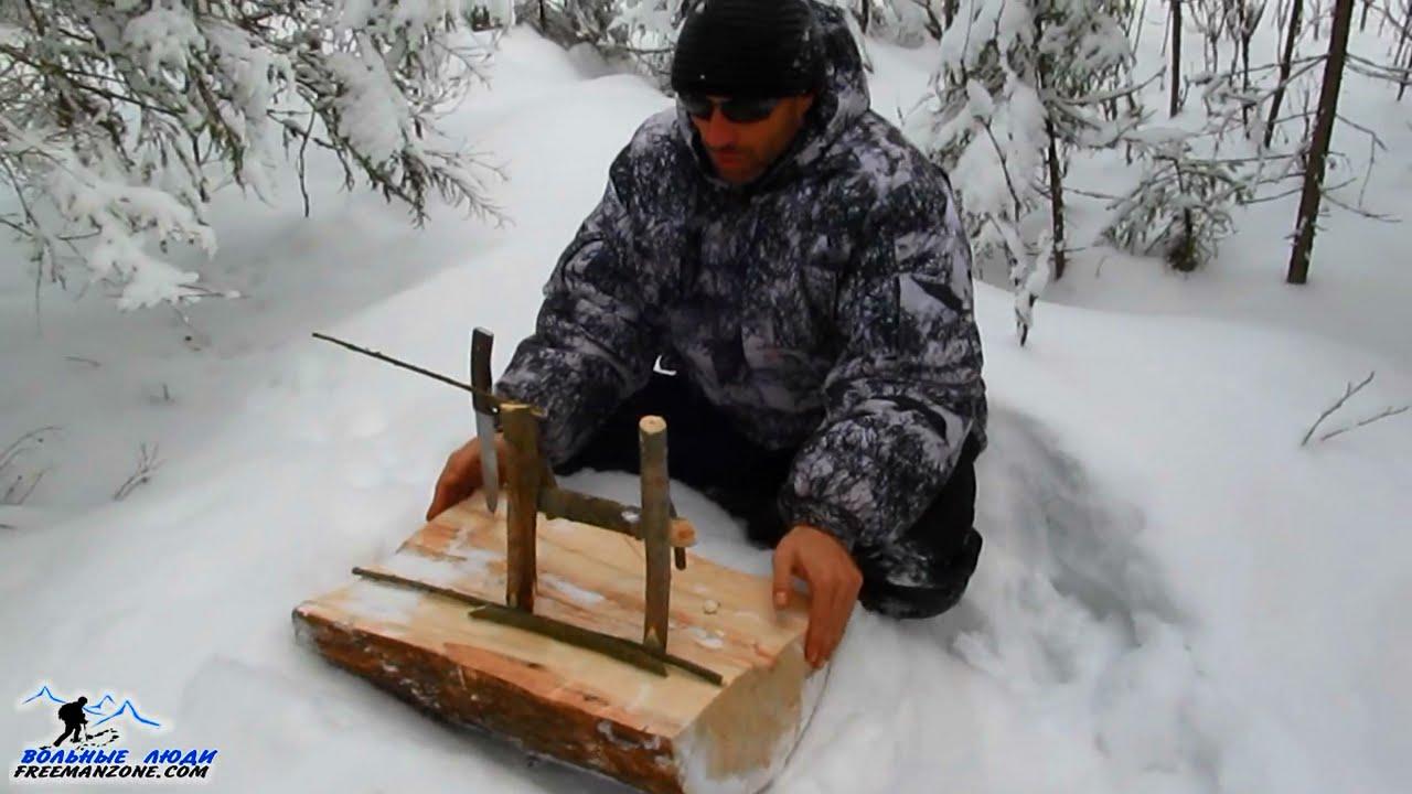 ловушка для зайца своими руками зимой