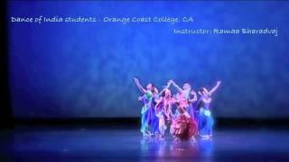 """Dance of India"" students of Ramaa Bharadvaj - Orange Coast College, CA, USA"
