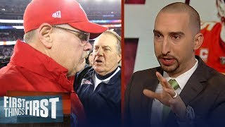 Nick Wright puts the Patriots on alert against the Andy Reid-led Chiefs | NFL | FIRST THINGS FIRST