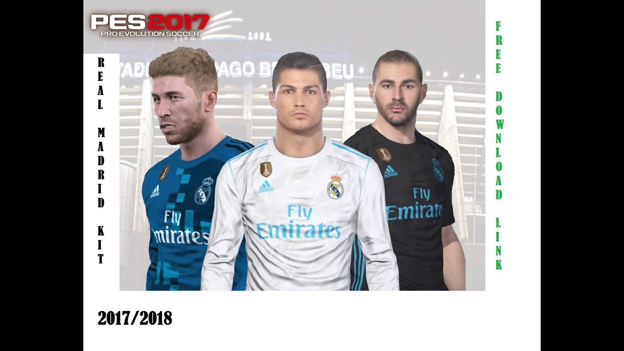 e8fd8e1987f PES 2017 REAL MADRID Kit 2017 2018 - YouTube