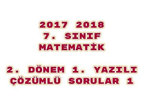 7. Sınıf Matematik 2. Dönem 1. Yazılı ÖRNEK 1