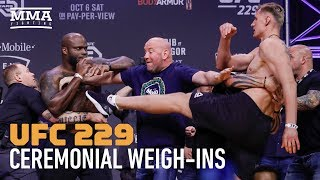 UFC 229: Khabib vs. McGregor Ceremonial Weigh-in Highlights - MMA Fighting