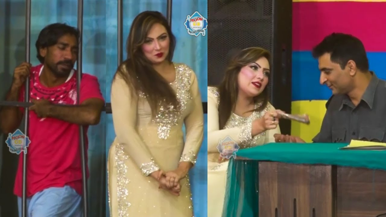 Best of Nadeem Chitta and Hira Noor with Amjad Rana New  Stage Drama Comedy Clip 2020