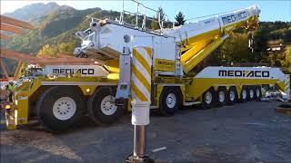 Liebherr LTM1750-9.1 MEDIACO (en Haute Savoie - FRANCE)