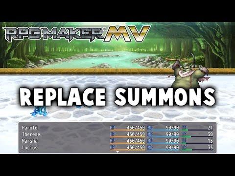 Replace Summons Plugin - RPG Maker MV - SRDude - Video