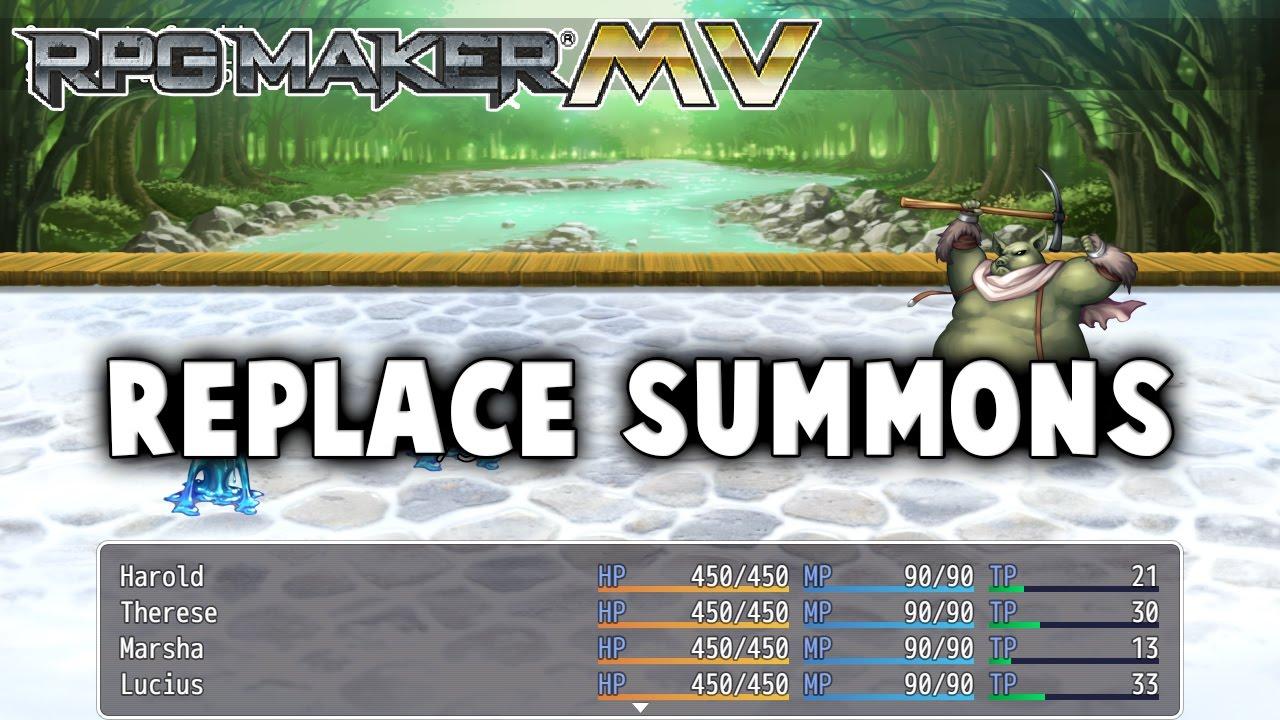 Rpg Maker Mv Plugins: Replace Summons Plugin
