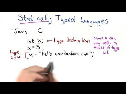 Statically Typed Languages - Intro to Computer Science