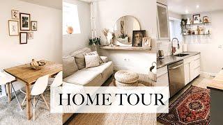 Home Tour   Basement Suite   Boho Thrifted Minimalist Home