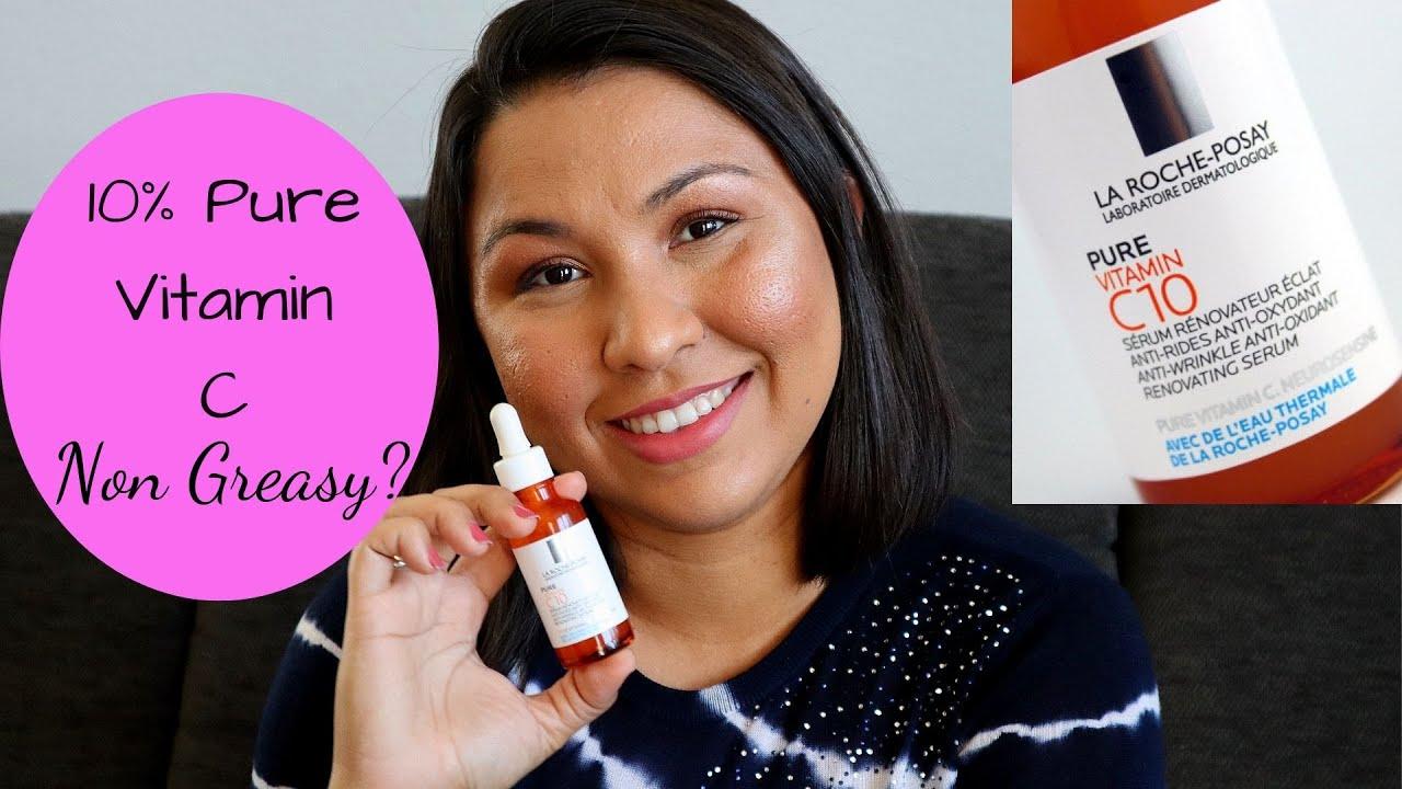 La Roche Posay 10 Pure Vitamin C10 Serum Review Youtube