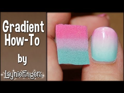 Layniefingers Tutorial How To Do Gradient Nails With A Sponge Youtube