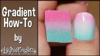 Layniefingers tutorial: How to do gradient nails with a sponge