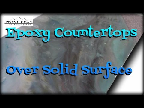 Epoxy Countertops over Solid Surface