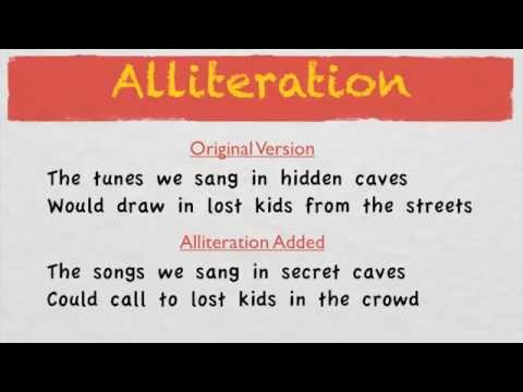 How To Write Good Lyrics | Alliteration
