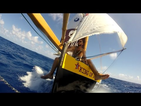Sailing SOLO ACROSS ATLANTIC on plywood dinghy sailboat / GoPro Hero 3+