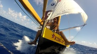 Sailing SOLO ACROSS ATLANTIC on plywood dinghy sailboat / GoPro Hero 3+