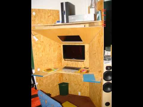 eigenbau pc schreib tisch youtube. Black Bedroom Furniture Sets. Home Design Ideas