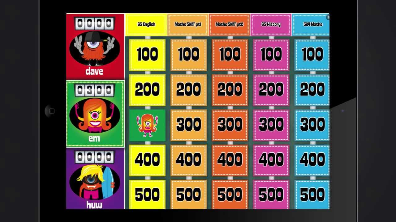 Build your own jeopardy-style games with Buzz Monster by INKids Education