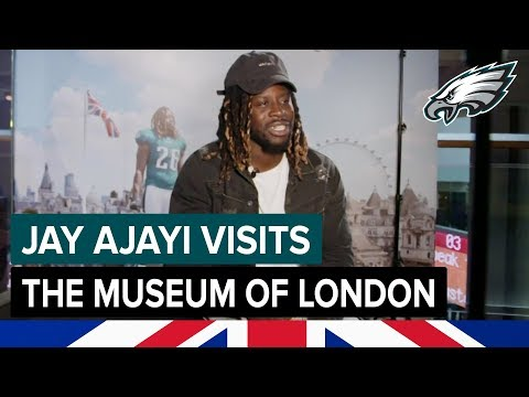 Jay Ajayi Visits His Exhibit In The Museum Of London | Philadelphia Eagles