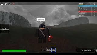 Kylo ren vs Some guy and luke skywalker-Roblox lightsaber battles