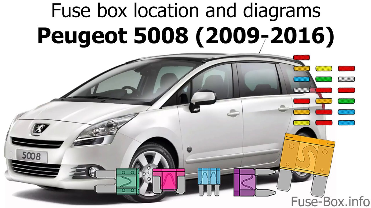 fuse box location and diagrams peugeot 5008 2009 2016 youtube peugeot 5008 fuse box diagram [ 1280 x 720 Pixel ]