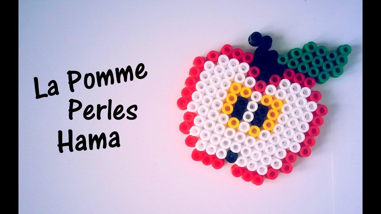 comment faire une pomme avec des perles hama youtube. Black Bedroom Furniture Sets. Home Design Ideas