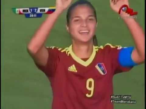 Los 2 goles de Deyna Castellanos en el partido Venezuela-Mexico Mundial Sub17 Jordania