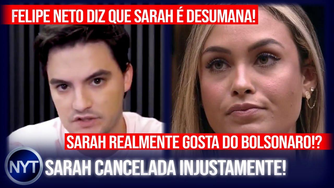 Sarah do BBB21 é cancelada por Felipe Neto e ele é DETONADO, Tiago Leifert comentou em seus stories