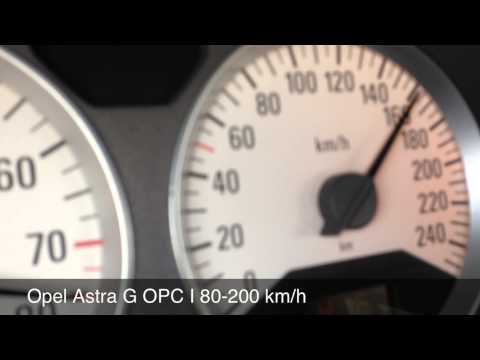 Opel Astra G OPC I 80-200 km/h