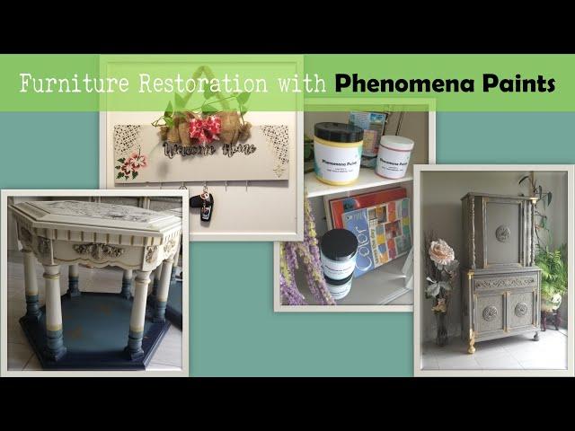 Phenomena Paints texturing | 3d stencil powder | create texture on spice rack P1-Ep2