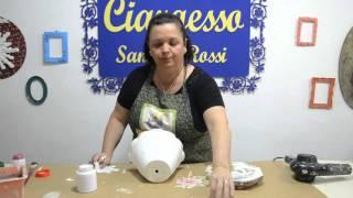 Sandra Rossi, Vaso cerâmico decorado