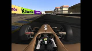 First laps in Infineon with the Formule Renault. rFactor 2 Gameplay
