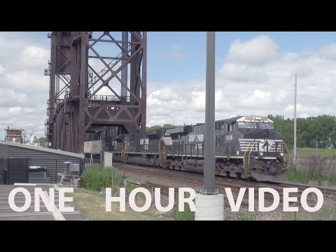 One Hour of Trains in Cleveland, Berea and NE Ohio - Video 1
