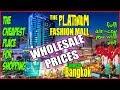 Bangkok Thailand Cheapest best value Shopping at the Platinum Fashion Mall