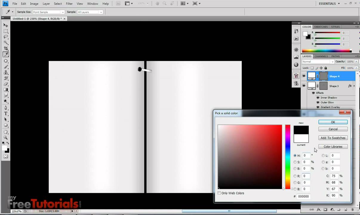Make book binding in photoshop youtube for How to make a coloring book page in photoshop