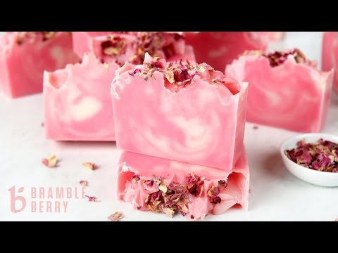 How to Make Swirled Rose Cold Process Soap