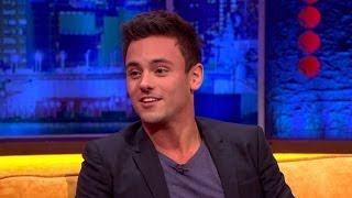 Repeat youtube video Tom Daley About Coming Out - The Jonathan Ross Show